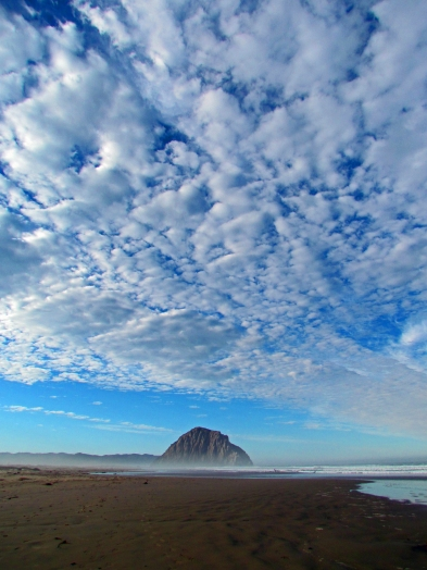 Morro Rock with Clouds