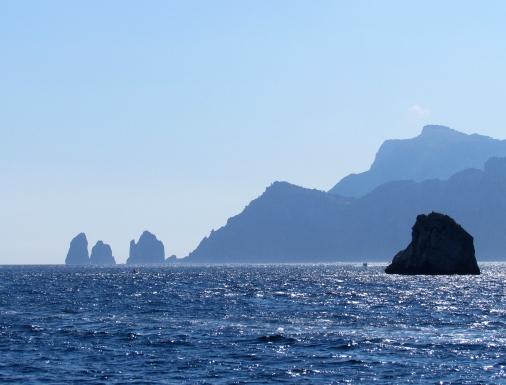 Rock formations off the Amalfi Coast