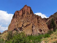 Rock formation in Bandelier National Monument NM