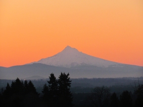 Mt Hood at sunrise.