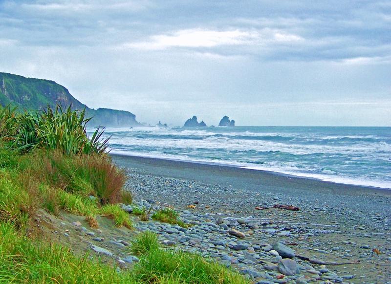 New Zealand coastline.