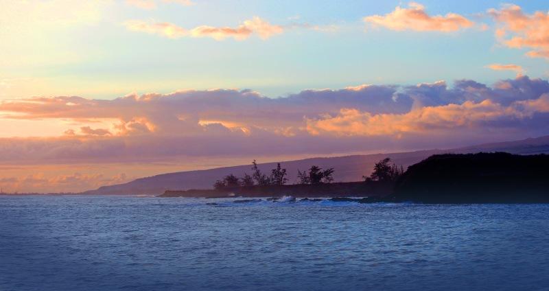 Seascape photography Kauai sunset