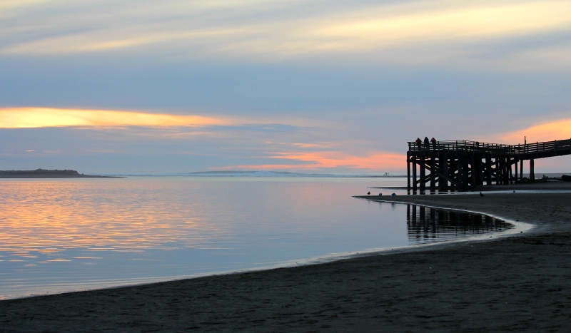 Serene Sunset from Depoe Bay, Oregon