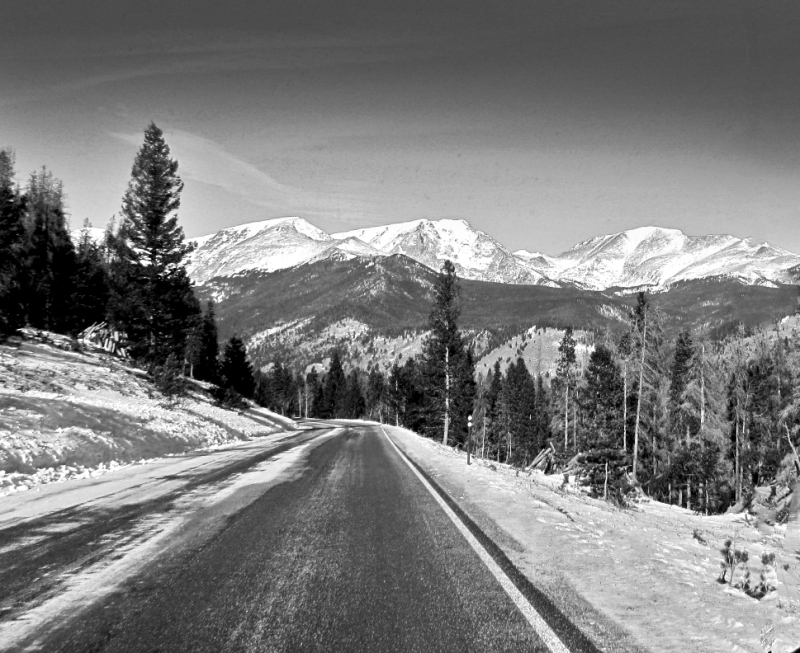 Black and White landscape photography of Colorado