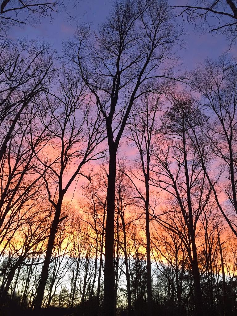 Skyscape photography of a South Carolina sunset.