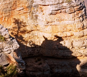 Landscape photography of shadows in the Grand Canyon.