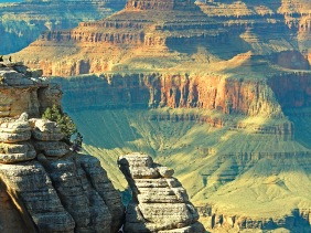 Landscape photography of the Grand Canyon.