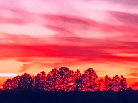 Skyscape photography of a sunset in South Carolina.