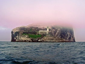 Landscape photography of Bass Rock, Scotland.