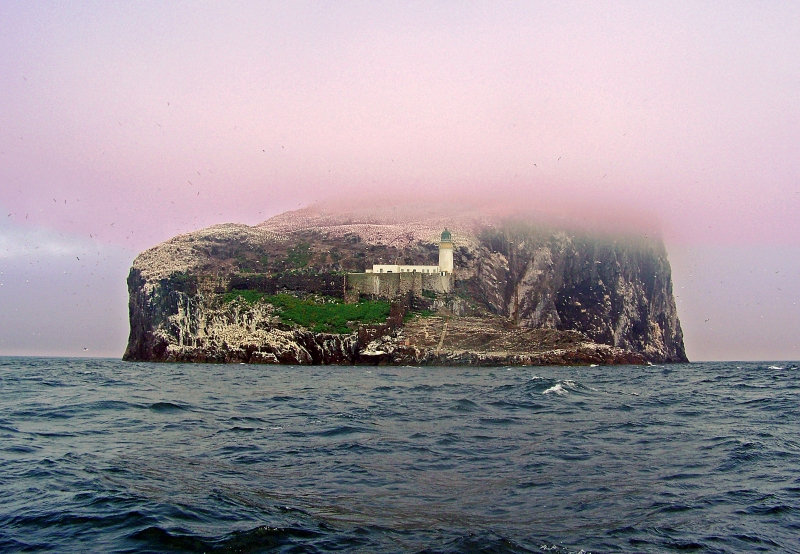 Landscape photography of Bass Rock, Scotland.