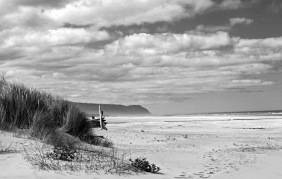 Black and white seascape photography of the central coast of California.