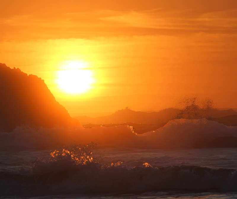 Sunset seascape photography from Seal Rock, Oregon.