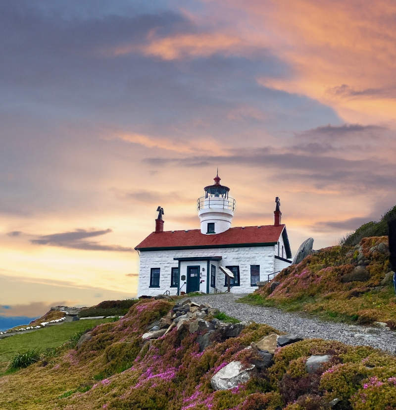 Outdoor landscape photography of Battery Point LIghthouse in Crescent City, California